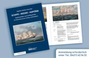 """HMSS-Plakat Buchvorstellung """"Schiffe - Reeder - Kapitäne"""""""