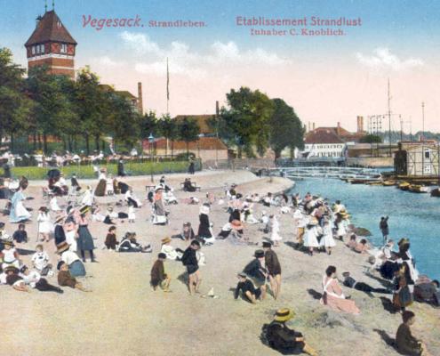 Strandlust Vegesack, Postkarte 1912